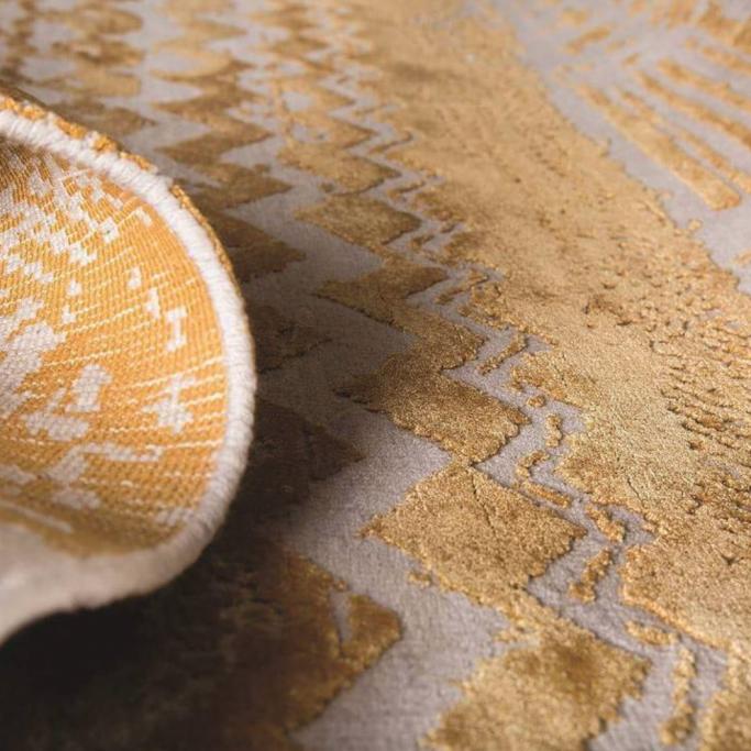 tappeto giallo moderno perfetto per salotto camera sala da pranzo
