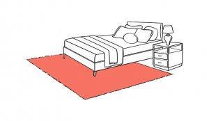 tappeto sotto il letto camera