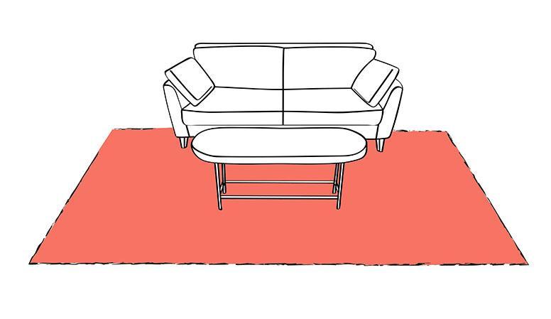 Tappeto sotto divano